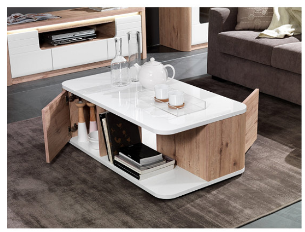 Table Basse Bellini Decor Chene Blanc Table Basse Chene Blanc Table De Salon