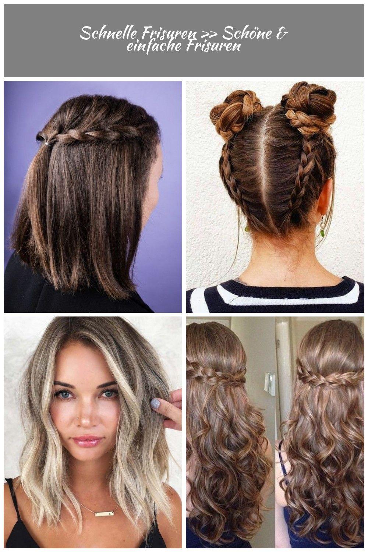Schnelle Und Einfache Frisuren Auch Fur Kurze Haare Frisuren Einfache Schnelle Frisuren Schone Einfache Frisuren Long Hair Styles Hair Styles Beauty