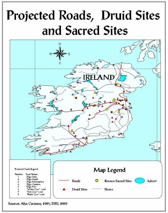 Map Of Ireland Highways.According To An Entry In The Annals Of The Four Masters For Ad 123