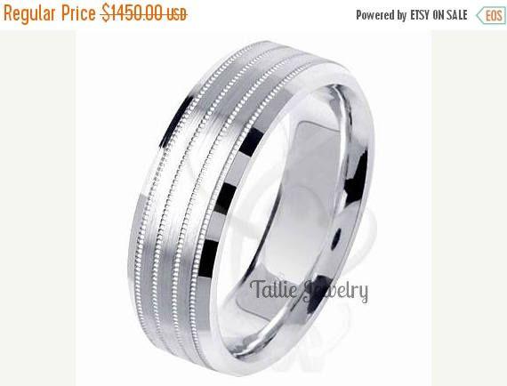 ON SALE Mens Platinum Wedding BandsWomens RingsPlatinum Matching Rings