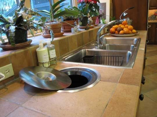 Compost Buckets Under The Countertop 4 Examples Kitchen
