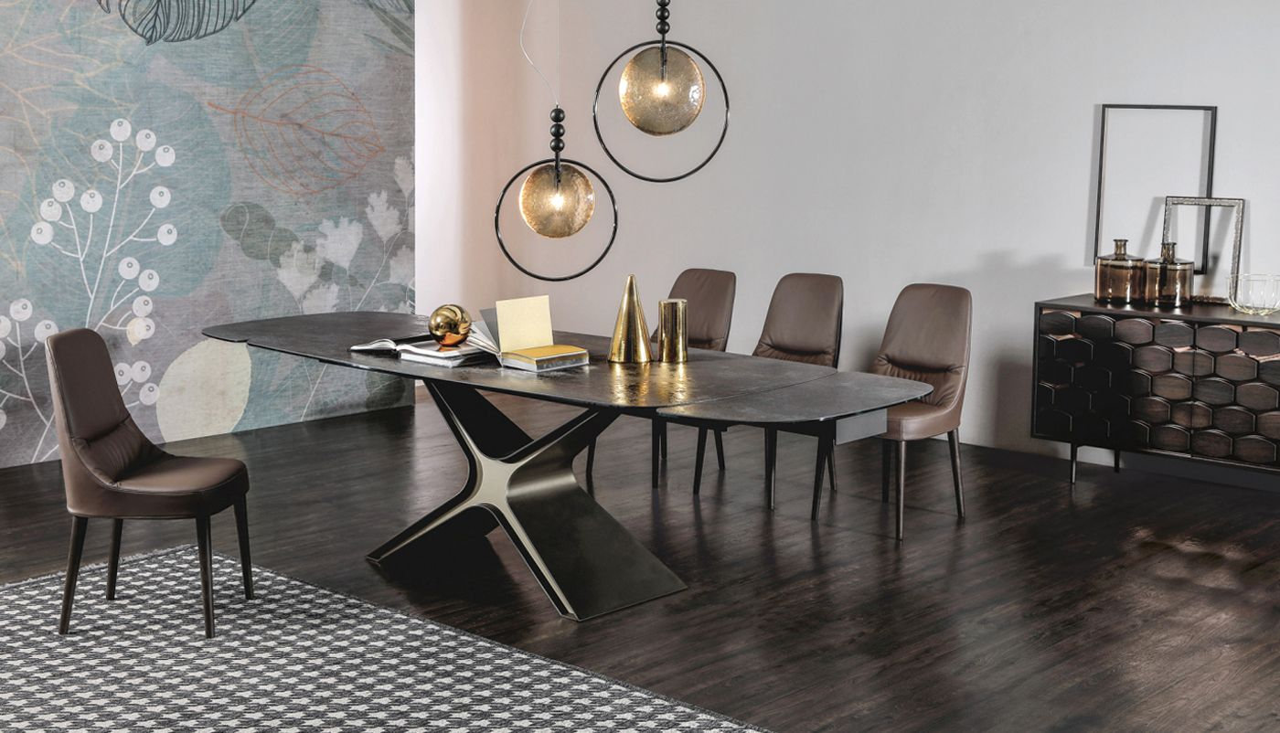Calliope extendable dining table juliette upholstered chair