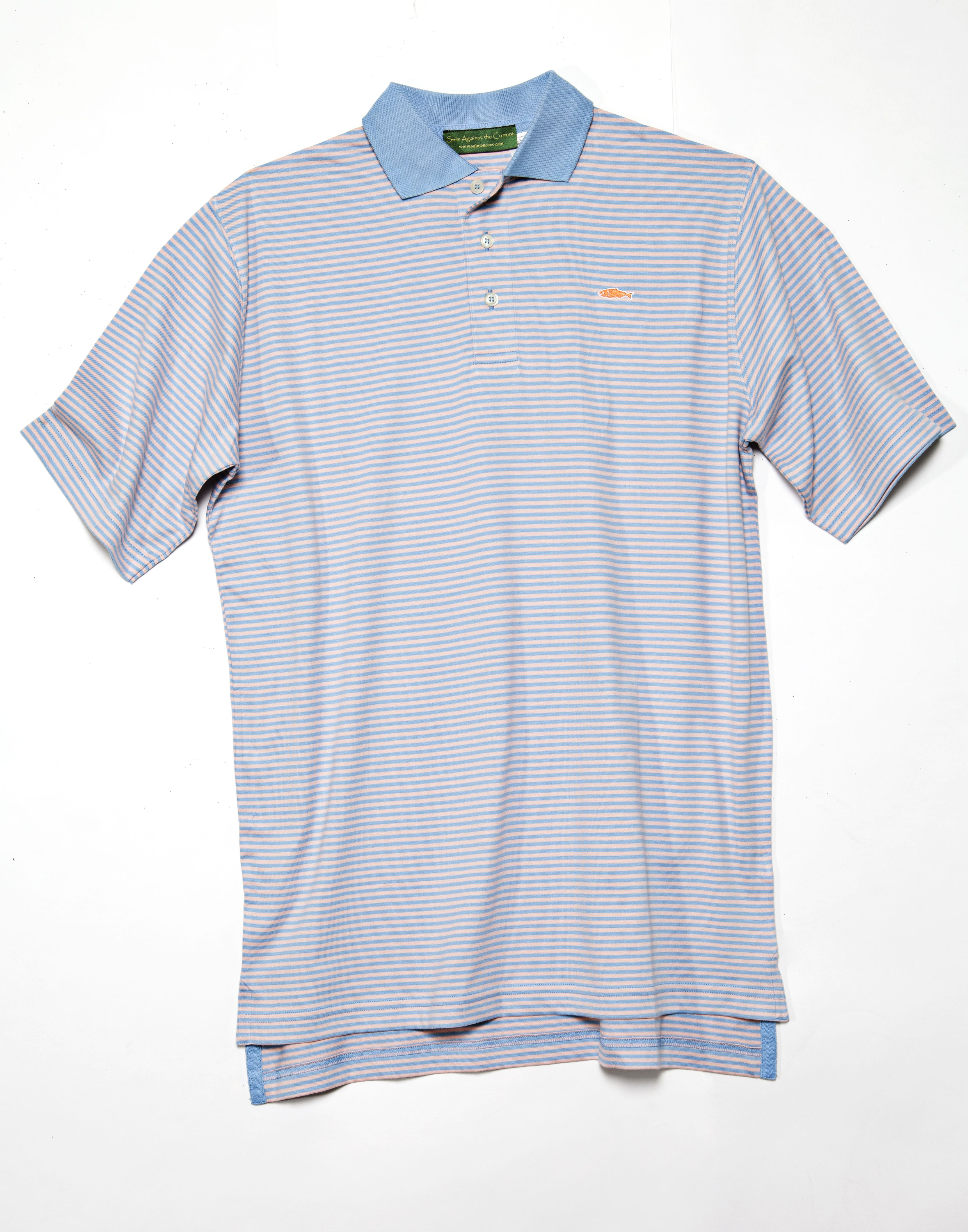 This Model Comes In Sky Blue On Soft Pink Mens Polo Shirts