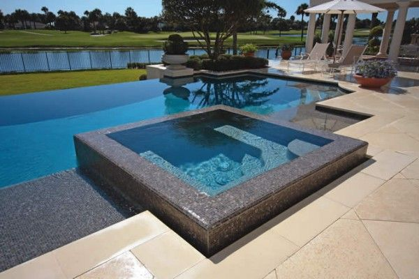 Hot tub in pool google search casa de campo for Pileta jacuzzi exterior