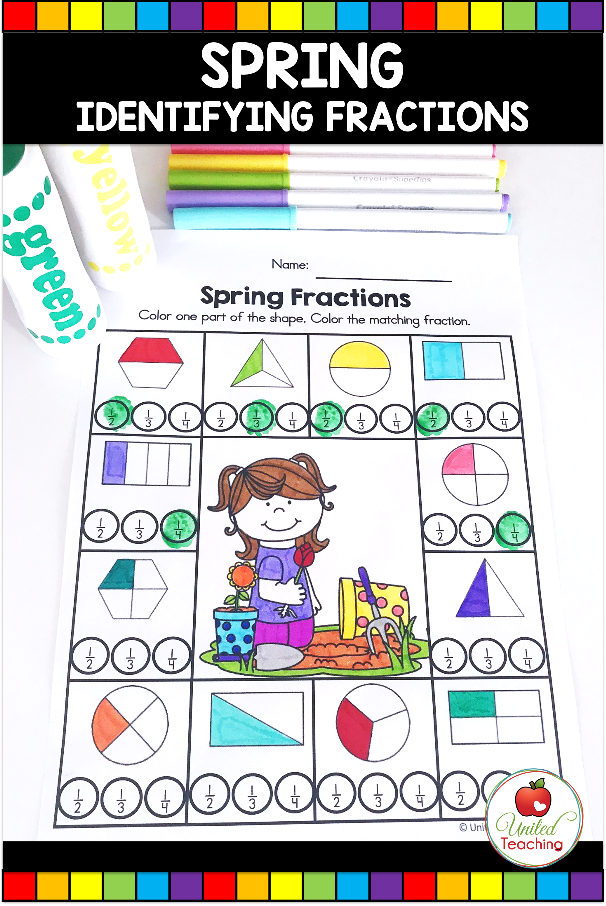 Spring Math And Literacy Activities 1st Grade