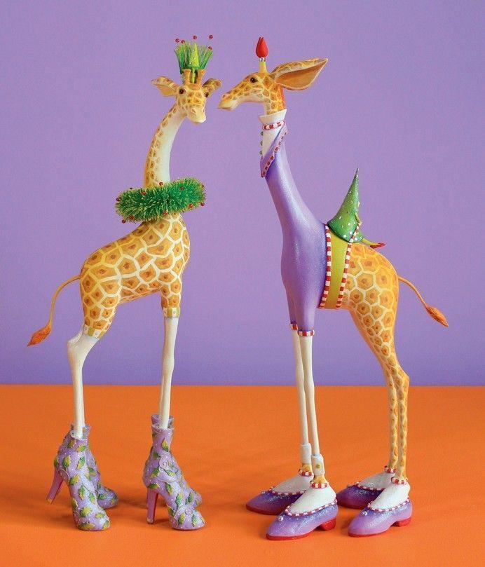 "HUGE DISPLAY George and Janet Giraffe - 10.5""x25.5""x6"" - 08-30964"