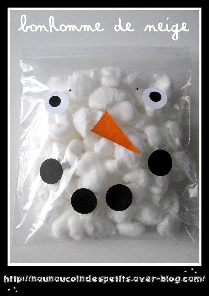 .. Bonhomme de neige coton ..  - Le blog de nounoucoindespetits #bonhommedeneige