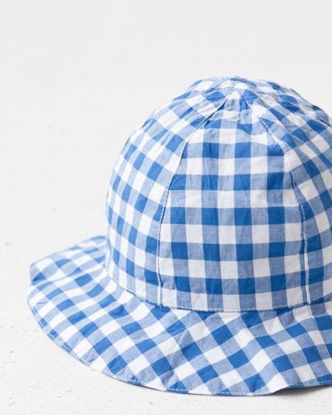 Petit Bateau 2012SS Kids solhat Gingham Check (29 blæk blå × hvid) 3-4A · 6-8A «COUPRIO»