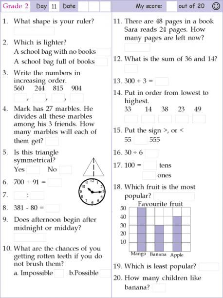 11 Grade Math Worksheets Mental Maths Worksheets Mental Math Math Pages