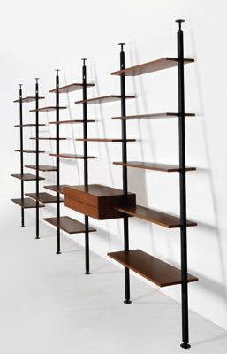Seltene Bucherwand Entwurf Richard Neutra In 2020 With Images Living Room Bookcase Home Library Design