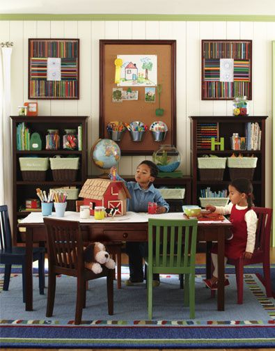 Basement Study Room: Ideas For The New Kids' Study Room