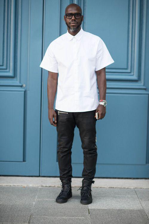 Marcus Paul Paris Fashion Week Photo By Julien Boudet Bleumode Com Street Fashion Photography Fashion Week Photos Mens Tops