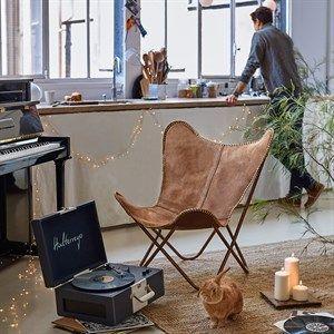 cuir fauteuil papillon