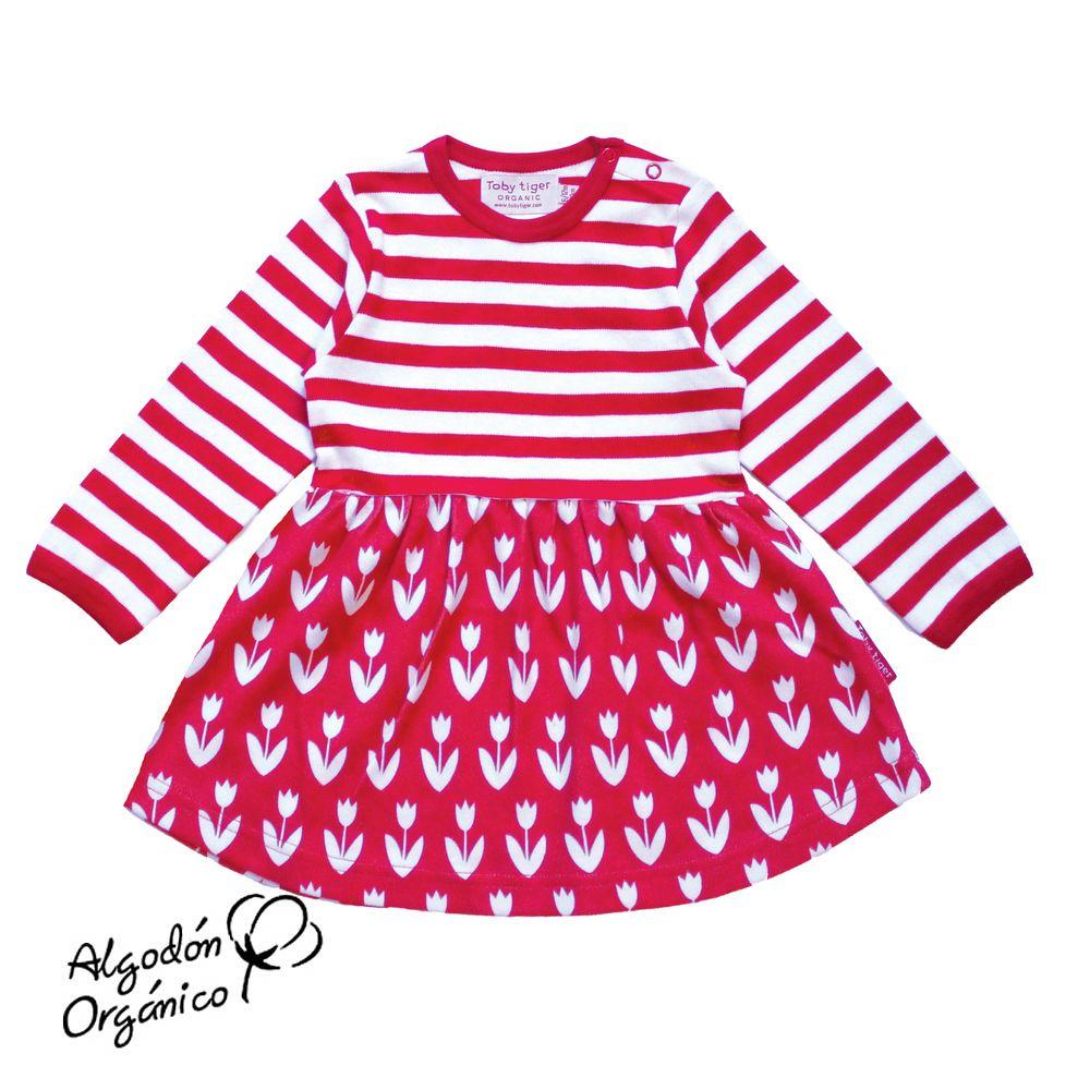Toby tiger-Vestido tulipanes rojo   Rebajas Mobaby- Ropa para bebés ...