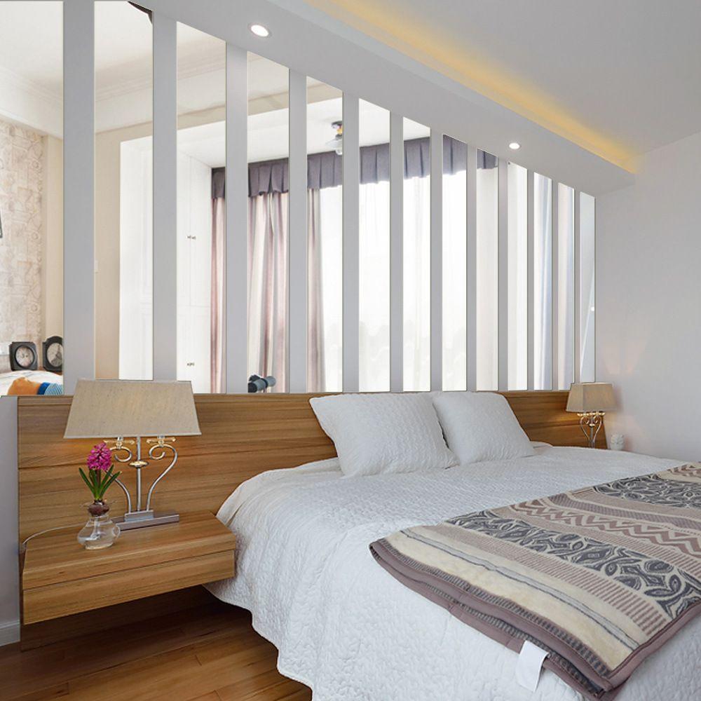 Rodap Espelho Retangular 3d Three Dimensional Adesivos De Parede  -> Adesivos Para Parede Sala De Tv