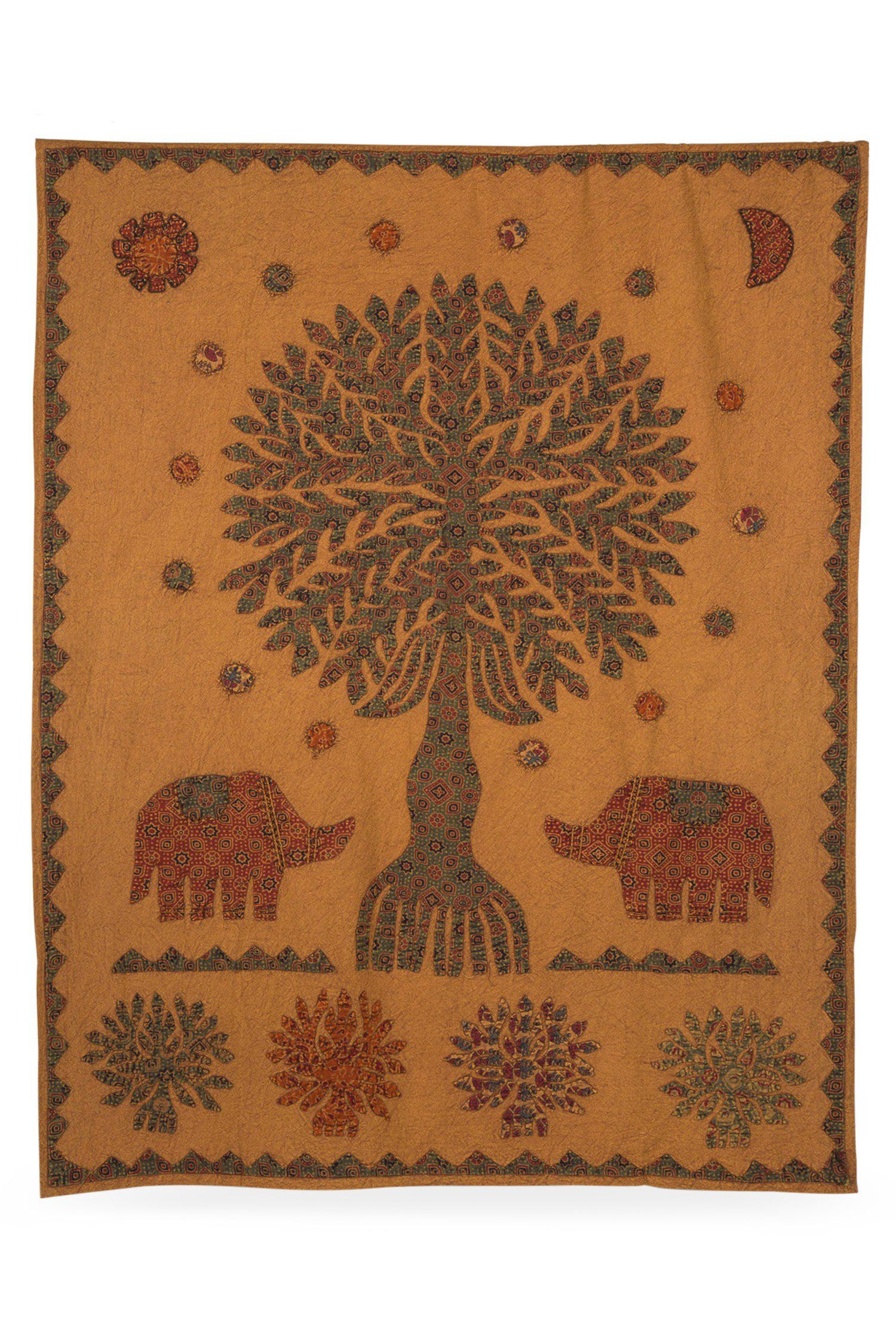 Memory Tree Wall Hanging Handmade In India Fair Trade Elephant Tapestry Ethical Home Slow Design Boho Bohemian