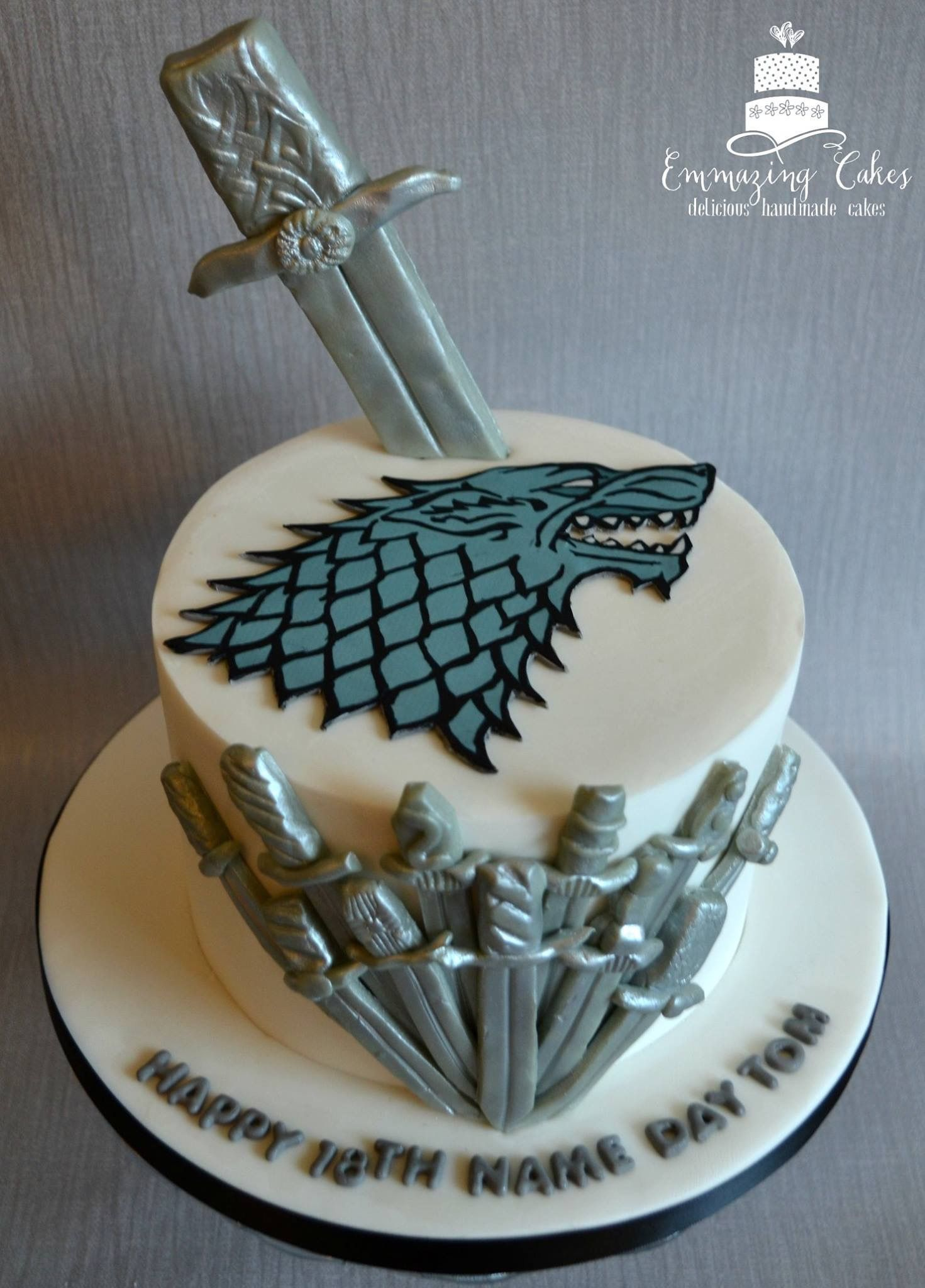 my first game of thrones cake winter is coming inside is a chocolate sponge. Black Bedroom Furniture Sets. Home Design Ideas