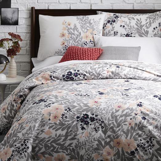size full queen printed petals duvet cover. Black Bedroom Furniture Sets. Home Design Ideas