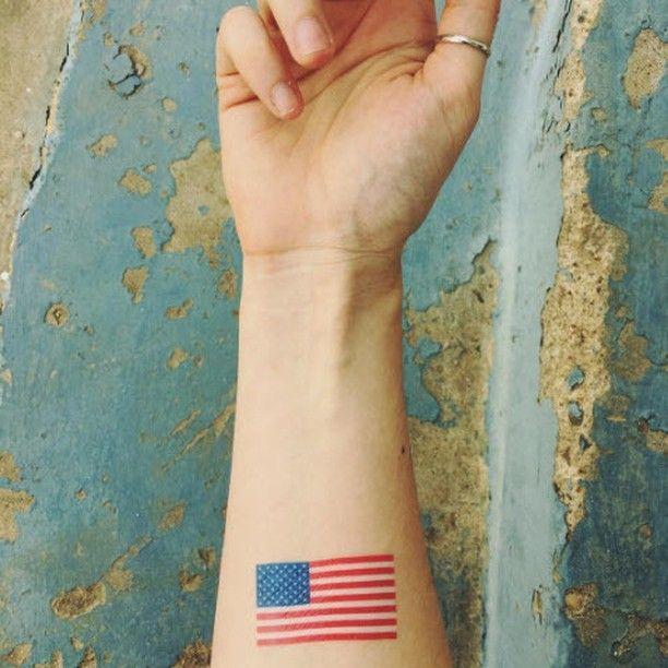 Usa Flag Tattoo T4aw Tattooforaweek Temporarytattoo Faketattoo