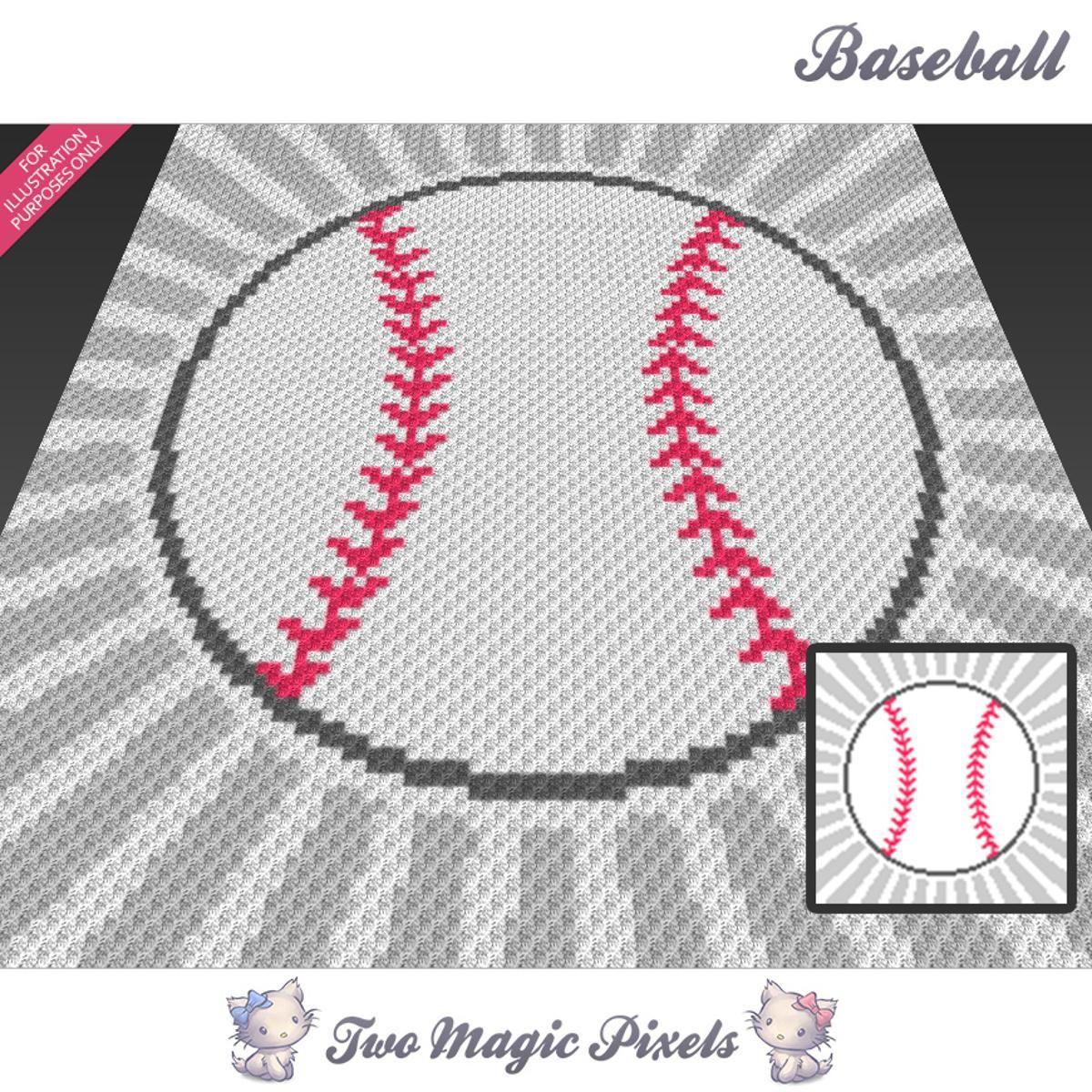 Baseball C2C Crochet Graph