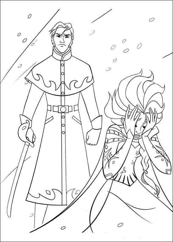 frozen coloring pages for kids. printable. online coloring