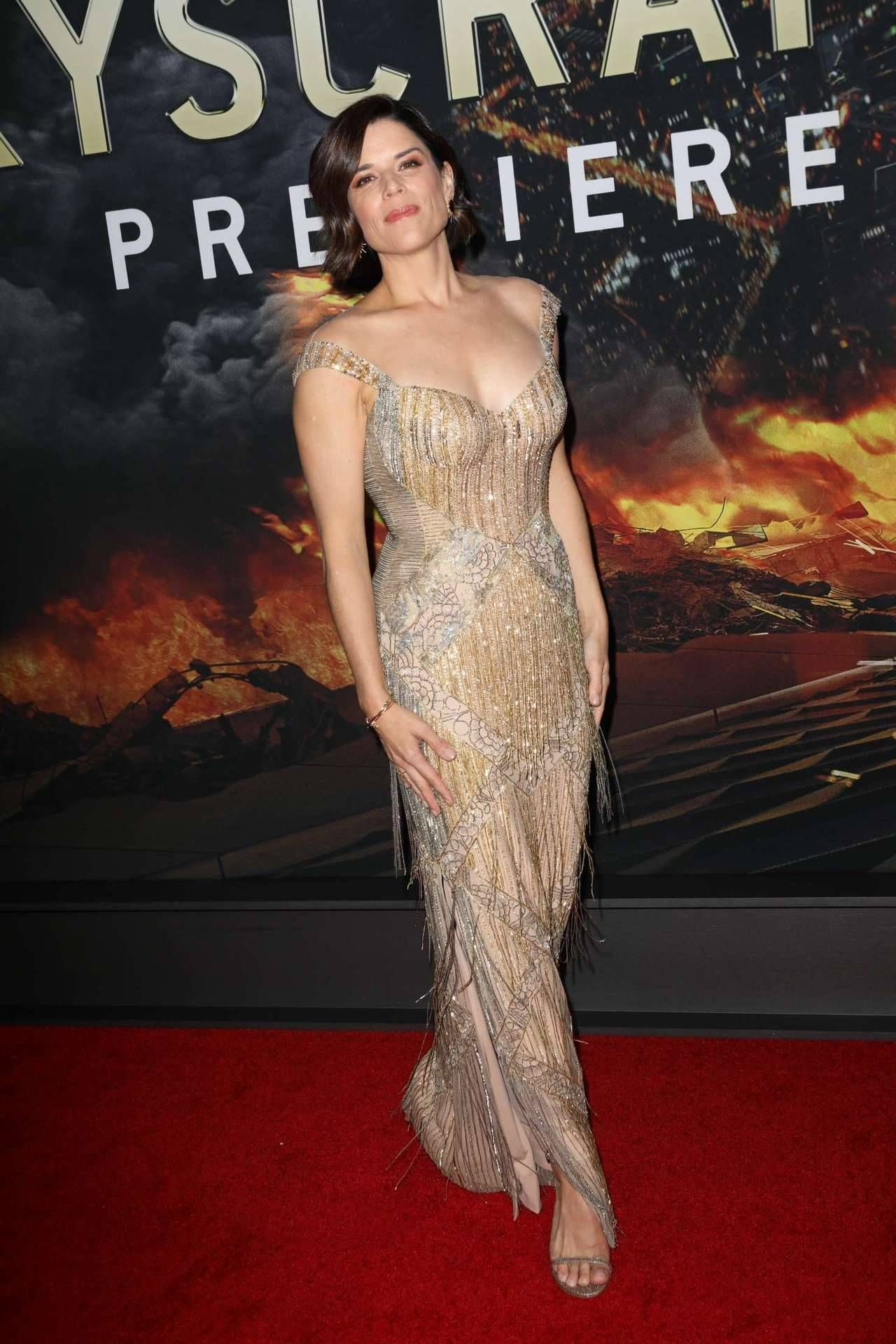 Actress Neve Campbell attends the Skyscraper New York