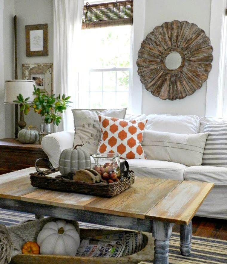 Déco intérieur maison  100 idées pour l\u0027automne Salon Pinterest