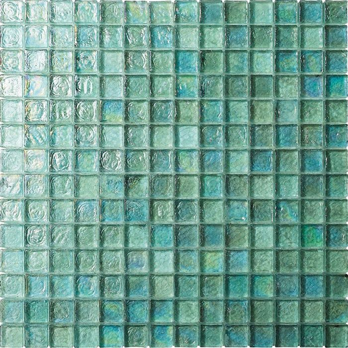 3 4 X 3 4 Glass Tile Mosaic Gc004 Rippled Glass Aqua Iridescent Iridescent Glass Tiles Mosaic Tiles Mosaic Glass