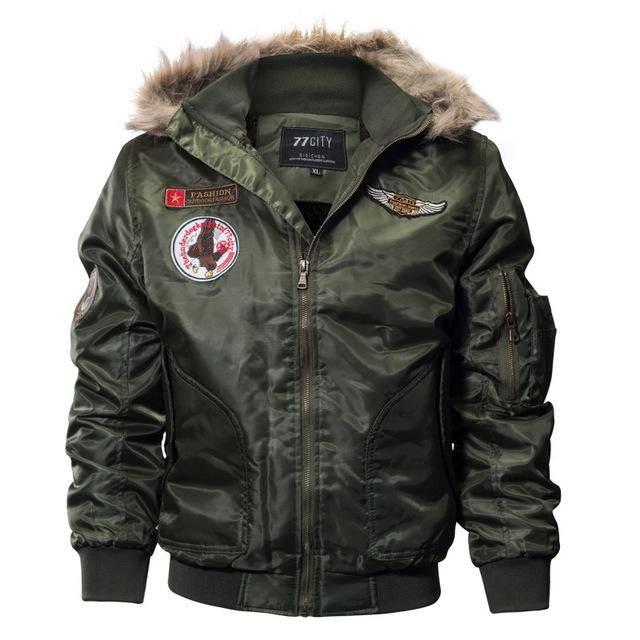 31c66c132 S.Archon Us Air Force Airborne Tactical Bomber Men Fur Collar ...
