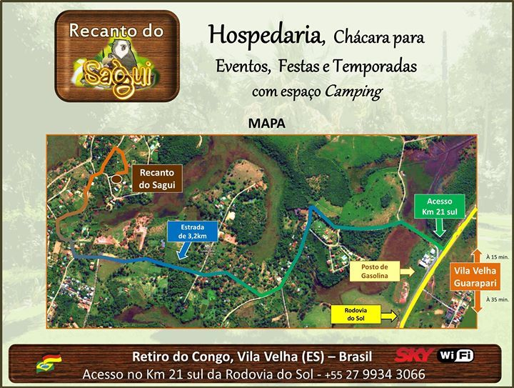 Mapa de Localização. Arte para FanPage