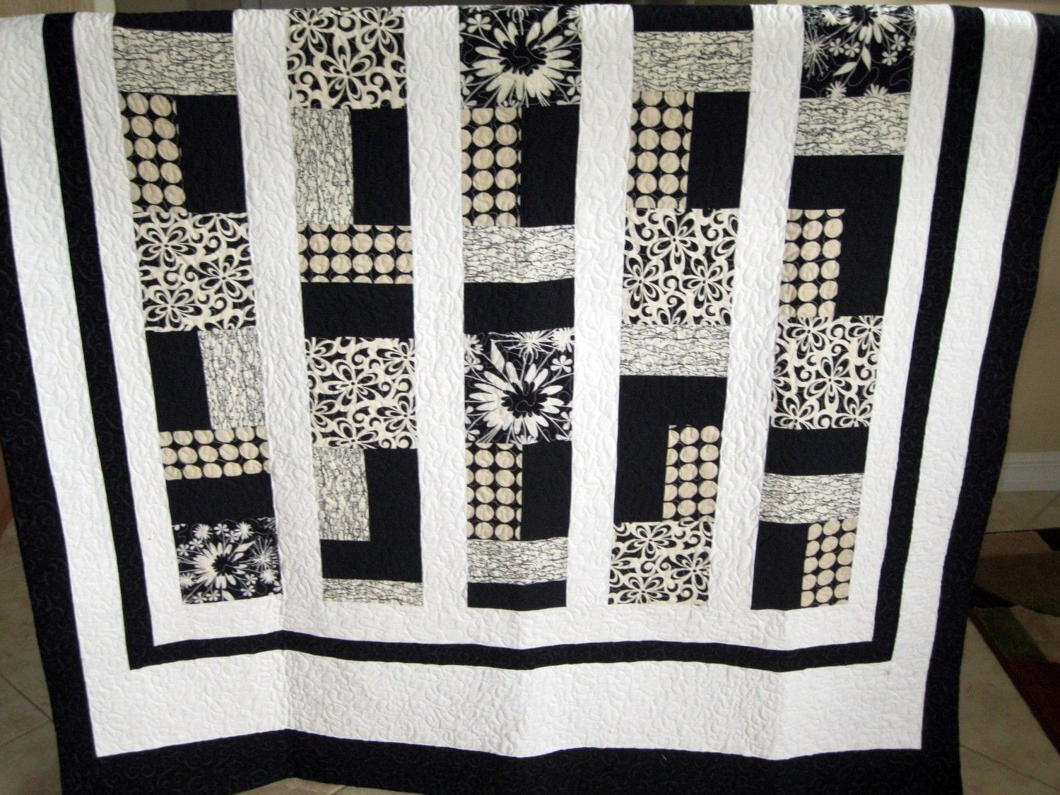quilt wavy and zag auntie black zig stripe yard com white cotton chris elling fabric chevron massive products