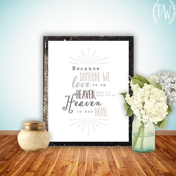 Because someone we love Quote Print family Printable art wall decor ...