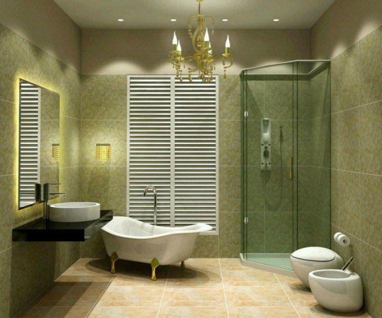 idée de décoration de wc toilette : luminaires