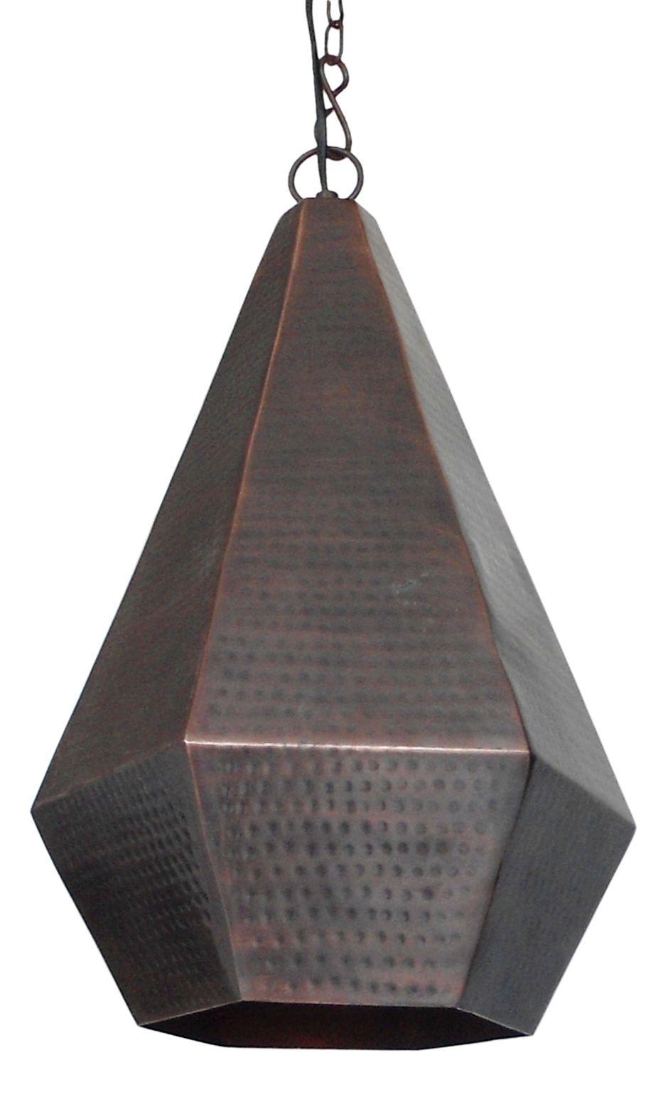 laurie lumi¨re luminaire suspension losange en métal poin§onné