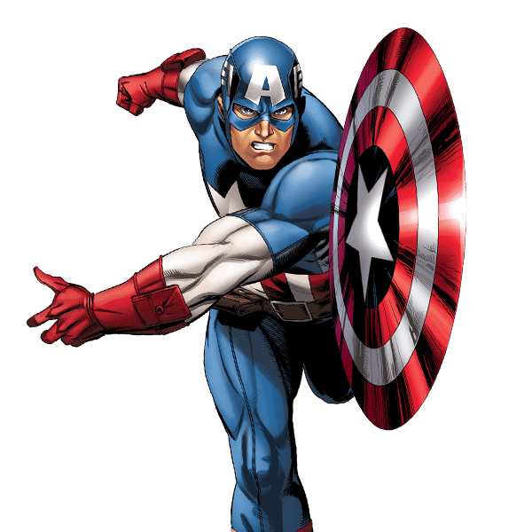 Marvel Avengers Captain America PNG Image (With images