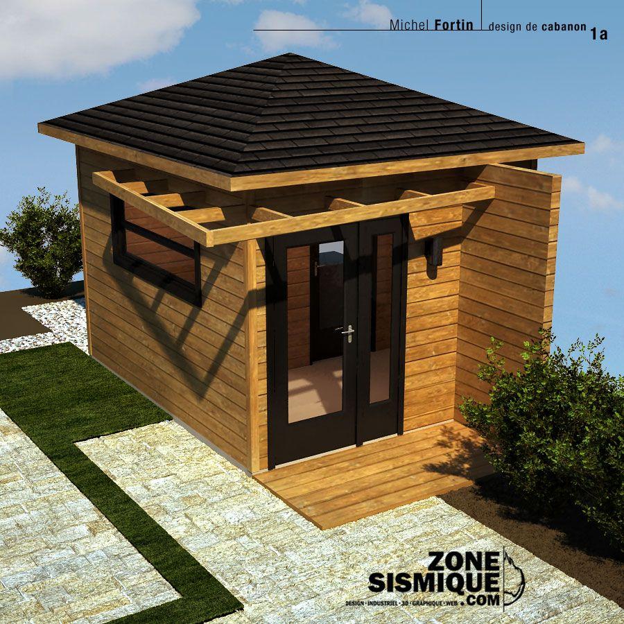 Zs cabanon v1a jardin pinterest cabanon maisons for Cabanon en bois 20m2