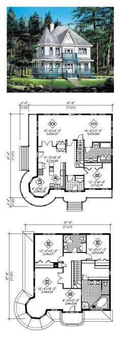 country farmhouse victorian house plan 49660 | victorian, bedrooms