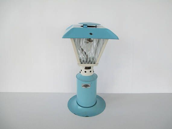 Pin by retrogal415 on lightsmps pinterest patio lighting vintage thermos patio light no blue white painted metal camping outdoor propane lantern used lp gas fuel canister not included aloadofball Choice Image