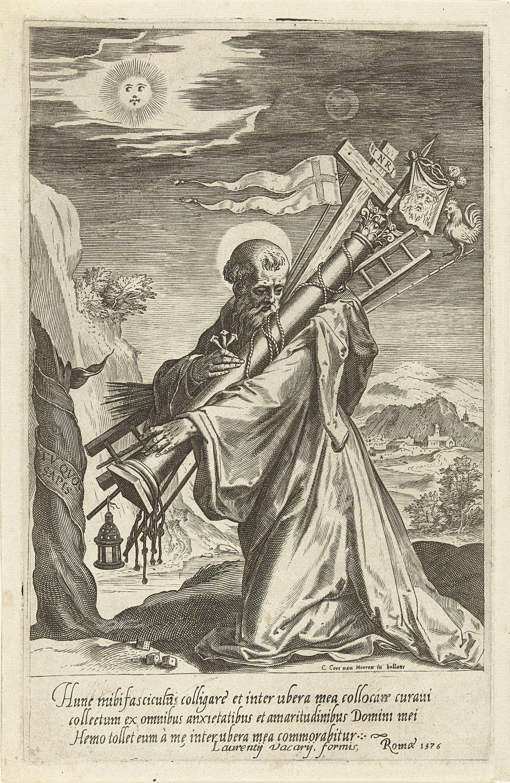 Cornelis Cort De H Bernardus Van Clairvaux Met De