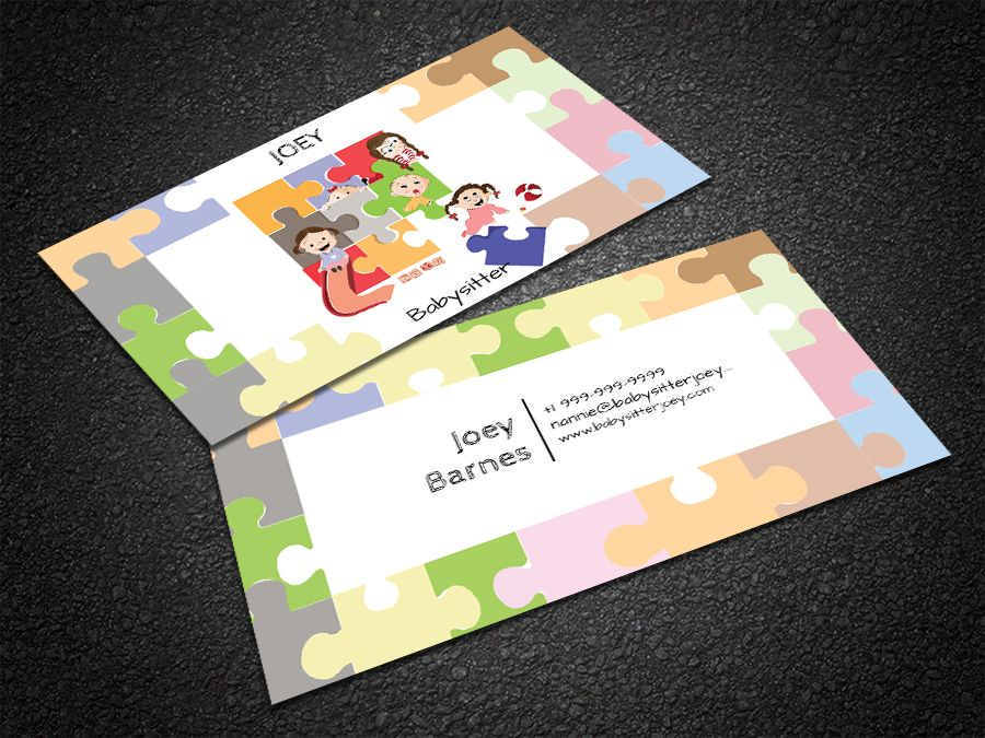 Free Free Cute Babysitter Business Card Business Cards Template