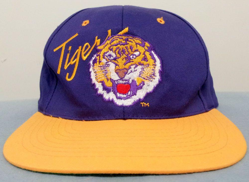 NWOT 100% Cotton LSU Tigers Adjustable Snapback Purple Style Hat Baseball Cap #Pioneer #BaseballCap