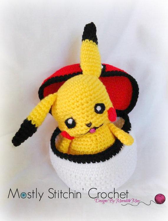 Pikachu Peek-A-Boo; CROCHET PATTERN; PDF | Crochet/Knit Toys 4 ...