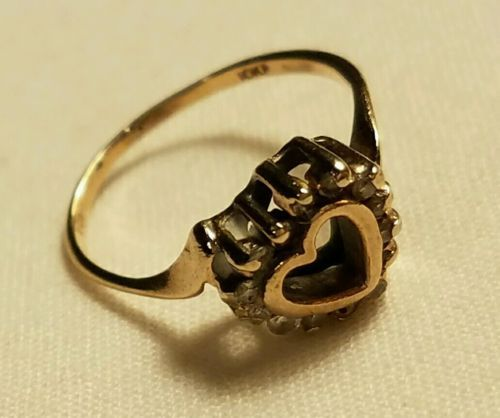 Vintage 10KP Solid Yellow Gold Heart Natural Marquise Diamond Gemstone Ring  https://t.co/cksKjCR9U9 https://t.co/YfZ4DrgLIL