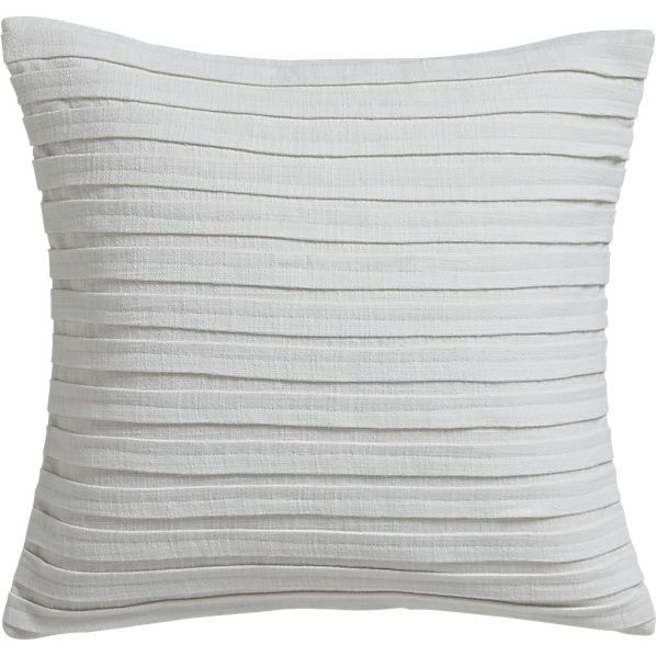 Fold White 16 Quot Pillow With Feather Insert Cb2 Source