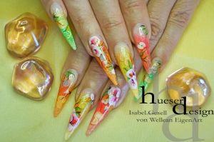 Summer Fruits, UV Gel, Nail Art.