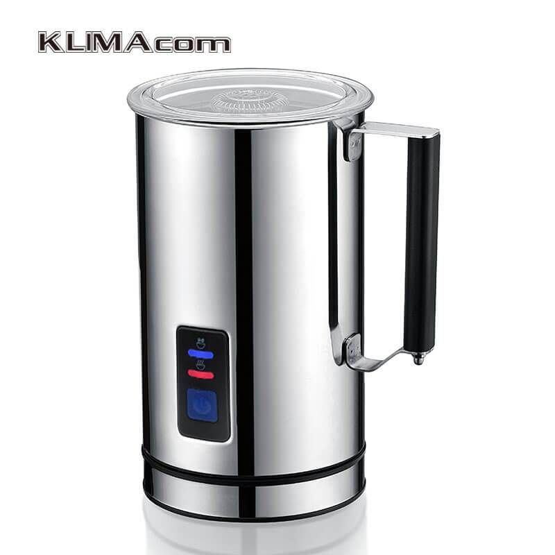Milk Frother Electric and Automatic Heater Cappuccino Maker Stainless Steel.