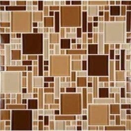Newport 12x12 Chestnut Blend Glass Tiles Versailles Pattern Glass Tile Chestnut Blend Versailles Pattern Tile Backsplash Glass Mosaic Tiles Mosaic Glass