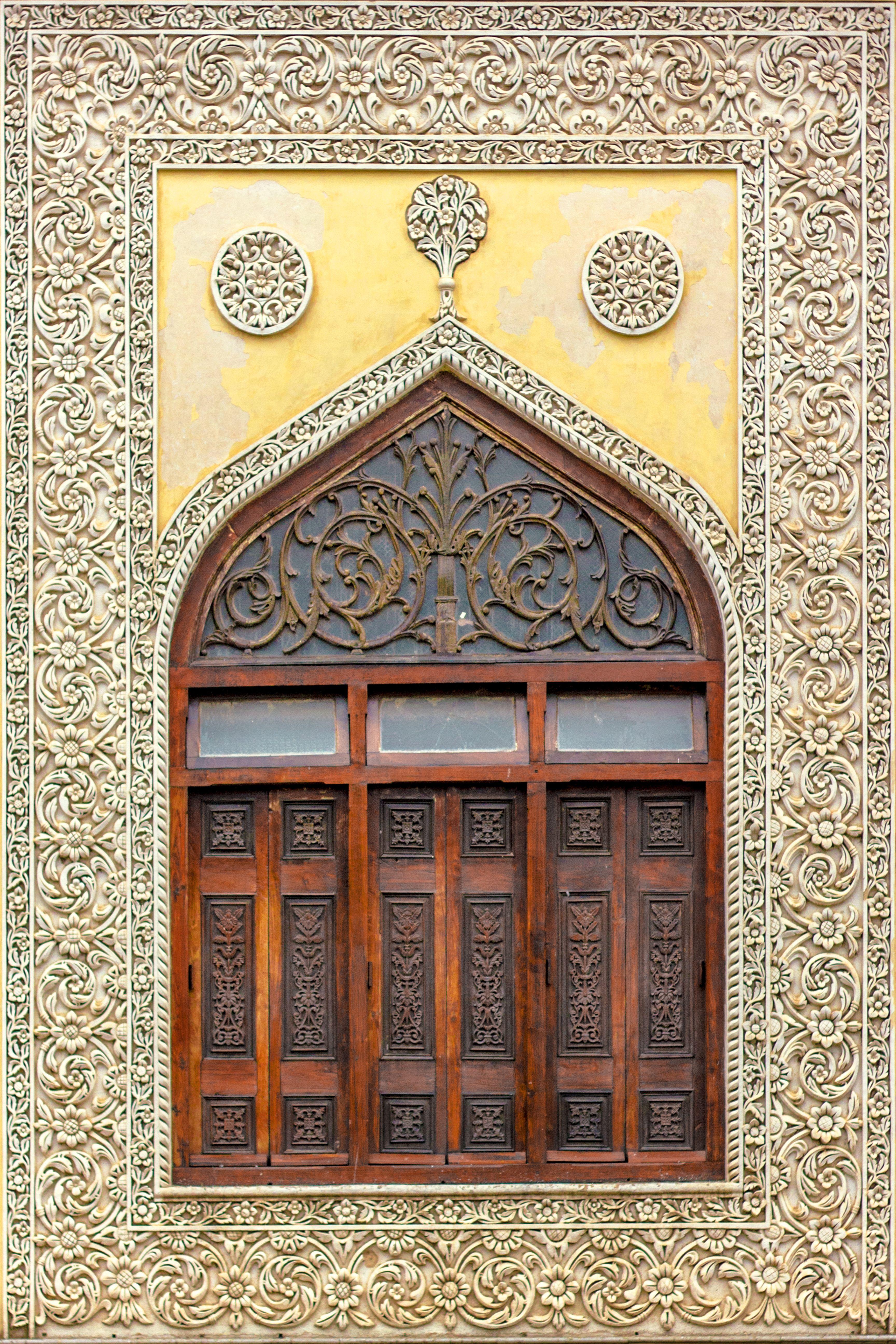 Chowmalla Palace window on Durbar hall of the Nizams of Hyderabad