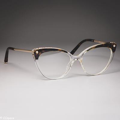 Photo of 45651 Cat Eye Brillenrahmen Kunststoff Titan Frauen Trending Niet Stile Optische Mode Computer Brille