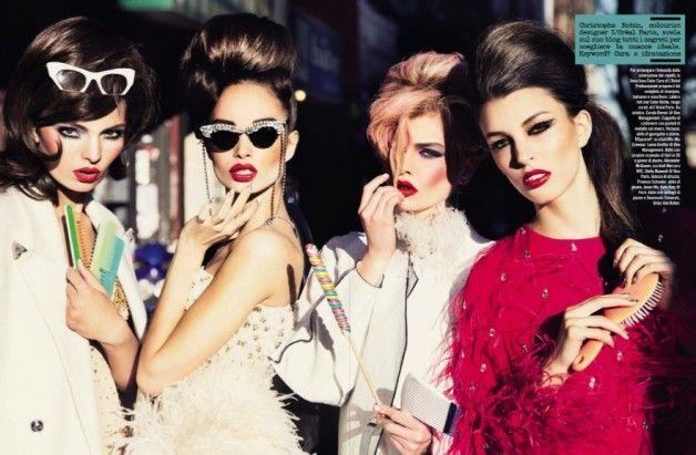 http://fashioncow.com/2013/11/make-ellen-von-unwerth-vogue-italia-november-2013/ Vogue Italia on Fashion Cow features Mercura NYC crystal sunglasses